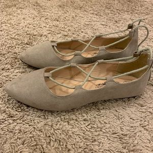 Nude Flats (tie up ankle)